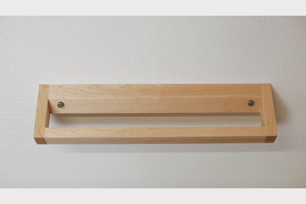 木のタオルかけCハードメープル画像01