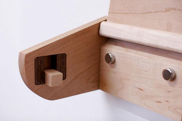 木のトイレットペーパーホルダーBハードメープル画像07